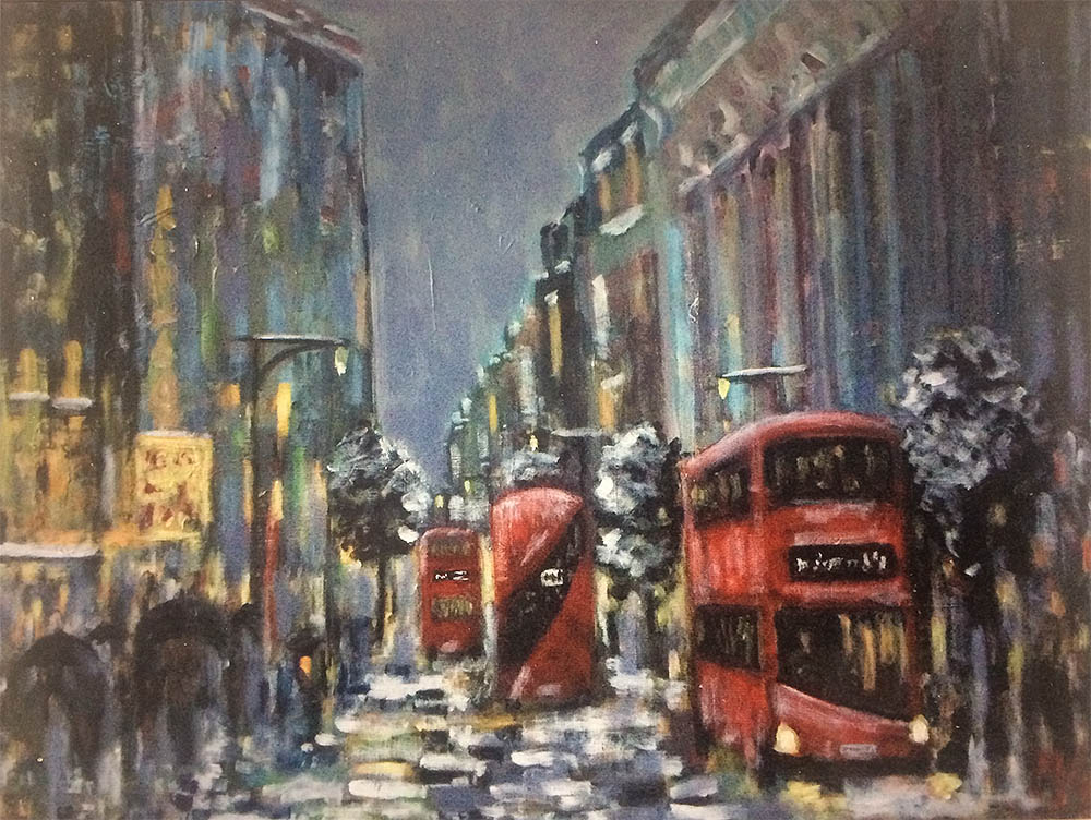 Michael Quirke - Oxford Street in Winter