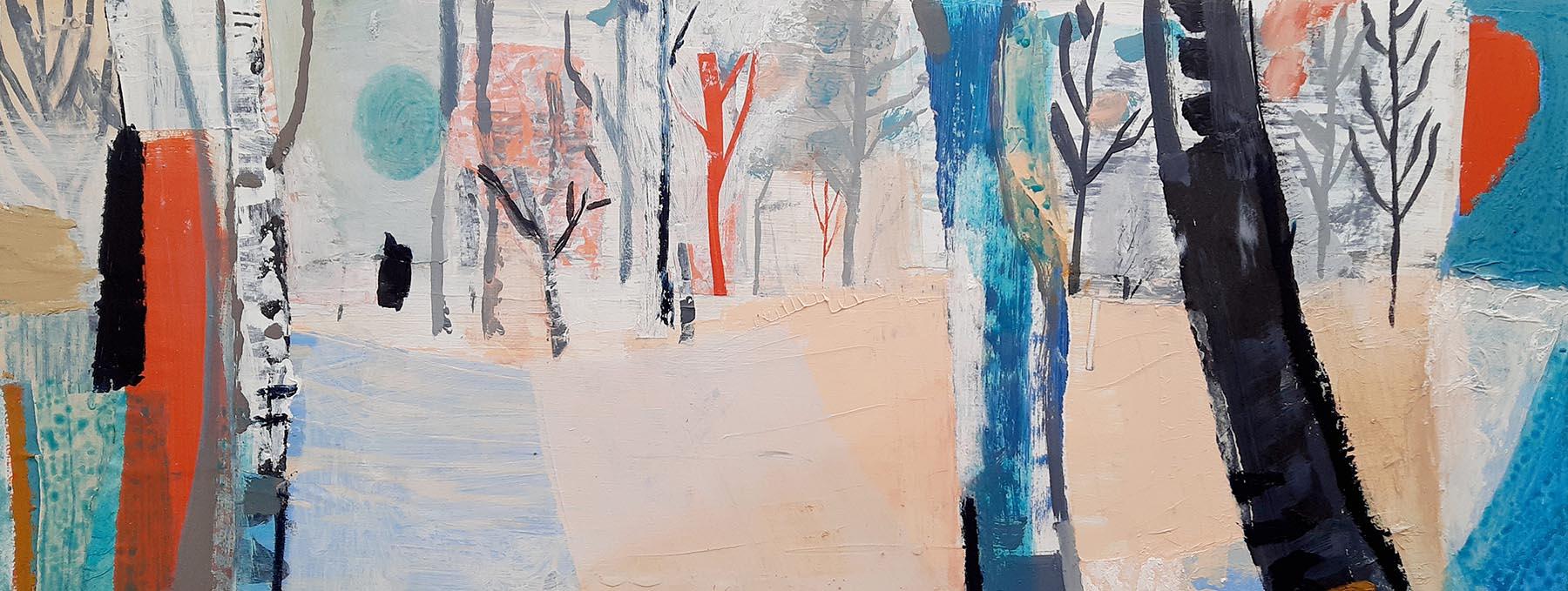 Liz Hough - Winter Walk in Steeple Woods